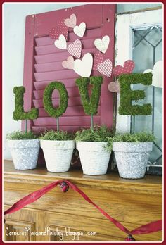 Corner of Plaid and Paisley: Valentine's Day Mantel - Love Letters
