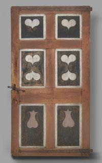 Pennsylvania German painted door 1770-1800