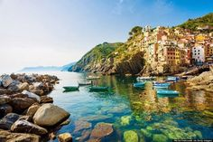 Riomaggiore, first in the chain of five fishing villages in Italy which is often known as Cinque Terre is considerably one of the most stunning places on earth.