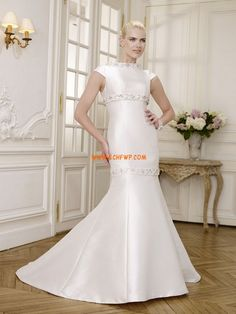 Sweep / Brush Trem Sashes / fitas Natural Vestidos de Noiva 2014