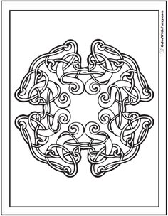 Fuzzy's Celtic Knot Designs: Celtic Curls Coloring Page