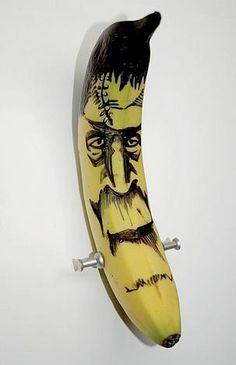 banana art frankenstein horror