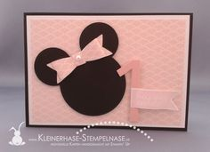 Kleinerhase-Stempelnase - Stampin' Up Berlin Minnie Mouse, Banner Greetings, Punch Art