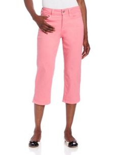 NYDJ Women's Petite Nanette Crop Colored Denim Jean