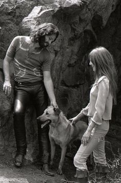 Jim Morrison, Pam Courson & Sage At Bronson Caves (1969)