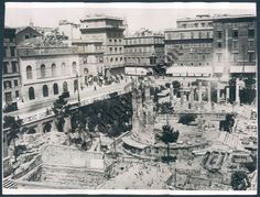 Italy Roma Argentina Forum Four Temple old Photo 1930 Temple, The Eighth Day, Rome Italy, Black And White Photography, Old Photos, Worlds Largest, Venice, Paris Skyline, The Originals