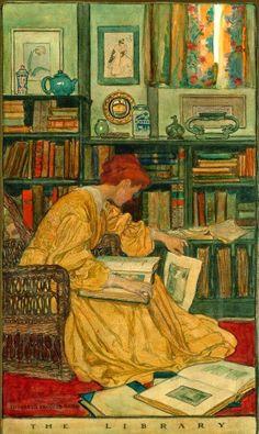 La biblioteca (1905) Elizabeth Shippen Green (USA, 1935-45)