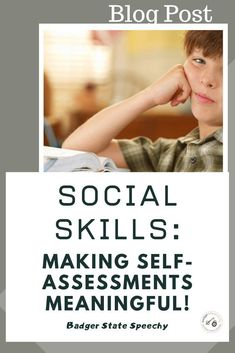 Self-assessment of Social Skills! - Badger State Speechy #noprint #socialskills #teletherapy #speechtherapy #assessment