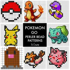 Perfect for kids who love Pokemon Go and perler beads! Find tons of free Pokemon Go perler bead patterns!