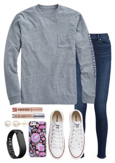 """""""Watching my boy Super Cam!!!!"""" by valerienwashington ❤ liked on Polyvore featuring J Brand, Vineyard Vines, Converse, Vera Bradley, Fitbit, Honora, Urban Decay, women's clothing, women's fashion and women"""