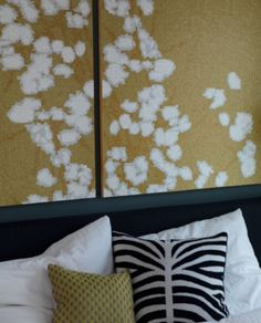 """This wallpaper decoration idea is from our feature """"Truly Trudy"""""""