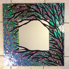 Mosaic Mirror Large Handmade Stained Glass by spoiledrockin, $535.00