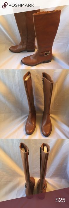 6.5 Brown leather Anne Klein tall  boots 6.5 Brown leather Anne Klein tall  boots Anne Klein Shoes Winter & Rain Boots