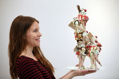 """* Don't you feel like eating Anna Barlow's pieces? It is so hard to believe that they are ceramics. The most delicious ceramics that I have ever seen! """"The beauty of food left to … Anna, Love Ice Cream, Gcse Art, Art Fair, Food Design, Food For Thought, Food Art, Art Dolls, Sculptures"""