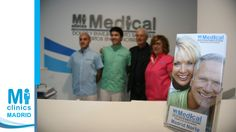 Miguel del Val, fisioterapeuta, Javier Suárez, enfermero, Noel Agius, Director de Operaciones de Mi Medical y Maite Sánchez, recepcionista.