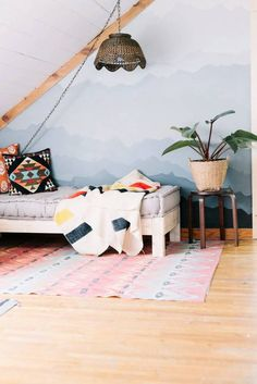 5 Ideas for Transforming Urban Outfitters' Rohini Daybed Cushion Urban Outfitters Daybed, Painting Wallpaper, Wallpaper Ideas, Amazing Wallpaper, Room Wallpaper, Stunning Wallpapers, Attic Spaces, Living Room Grey, Living Area