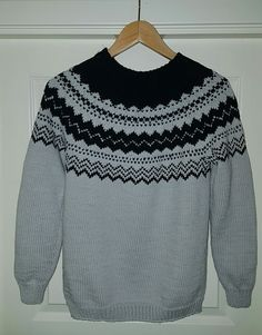 Genser ibomull fra Klompelompe Knit Crochet, Men Sweater, Knitting, Sweaters, Fashion, Moda, Tricot, Fashion Styles, Sweater