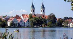 Der Stadtsee und der Schlosssee bringt den Namen Schwäbisches Interlaken - Bad Waldsee