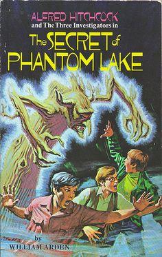 Vintage book cover - The Secret of Phantom lake
