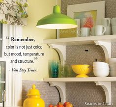 """ Remember, color is not just color, but mood, temperature and structure."" - Van…"
