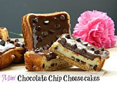 Hun... What's for Dinner?: Mini Chocolate Chip Cheesecake