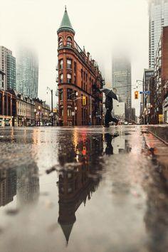 Toronto Flastiron Reflections By Gab Sanu