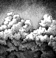 Another crosshatching attempt, based on the clouds from this: [link] Cement Clouds Ink Pen Art, Ink Pen Drawings, Drawing Lessons, Drawing Techniques, Ink Illustrations, Illustration Art, Hatch Drawing, Hatch Art, Cloud Drawing