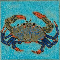 10 Wonderful Cool Tips: Subway Tile Backsplash Ideas herringbone backsplash beige.Cheap Backsplash Behind Stove. Painting Ceramic Tiles, Crab Painting, Painted Tiles, Ceramic Art, Bathroom Mural, Herringbone Backsplash, Hexagon Backsplash, Fish Art, Crab Art