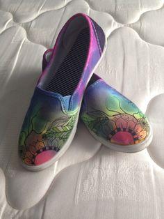Tie dye sharpie shoes