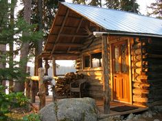 """sketchymetal: """" A-Frame cabin in the Wallowa-Whitman National Forest, OR """""""