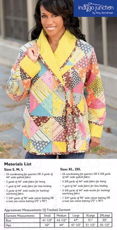 Cozy quilted jacket pattern