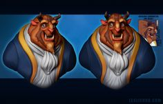 """""""The Beast"""" - 3D model by Polycount user Ravenslayer. Daily Disney Doodles - Polycount Forum"""