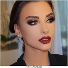 #kuwait #workshop #2017 #talalmorcos #mua Glam Makeup Look, Red Lip Makeup, Mac Makeup, Smokey Eye Makeup, Beauty Makeup, Makeup Looks, Prom Makeup For Brown Eyes, Smokey Eye For Brown Eyes, Makeup Inspo