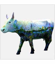 CowParade Kansas City cow detail - Environmental Cow  This one was purchased by one of my clients, so I got to see her every week
