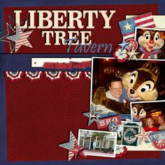 Liberty Tree Tavern - Page 3 - MouseScrappers.com  I can see this as the left side of a two page spread....with a gathering of photos in the center of said spread.