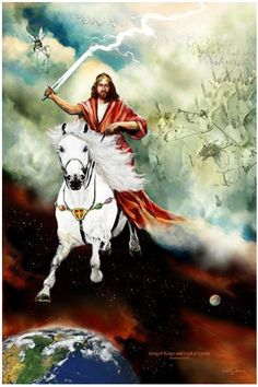 Behold He comes, riding on the clouds. Shining like the sun at the trumpet's call. Out of Zion's hill, salvation comes King of Kings - Revelation 19 Come Lord Jesus! King Jesus, Jesus Is Lord, Revelation 19 11, Jesus Return, Jesus Christus, Jesus Is Coming, Prophetic Art, Jesus Art, Lion Of Judah