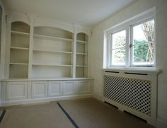 Chittleburgh Joinery Manufacturers of bespoke joinery for Guildford, Surrey, Hampshire, Sussex and London. Bespoke Furniture, Furniture Design, Joinery, Radiators, Bookcase, Shelves, Home Decor, Custom Furniture, Carving
