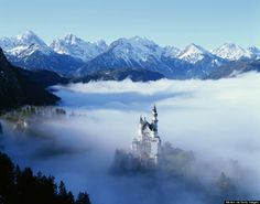 """""""Sleeping Beauty"""" - Neuschwanstein Castle, Schwangau, Germany : These Destinations Are Straight Out Of A Disney Movie"""