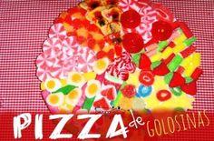 Pizza con golosinas