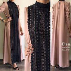 Elegant Robes Women Long Sleeve Maxi Dress Muslim Lace Applique Cute Al-jilbib S - Women Robes - Ideas of Women Robes - Elegant Robes Women Long Sleeve Maxi Dress Muslim Lace Applique Cute Al-jilbib Spring Autumn Abaya Islamic Fashion, Muslim Fashion, Modest Fashion, Fashion Dresses, Modest Dresses, Trendy Dresses, Casual Dresses, Hijab Style Dress, Mode Abaya