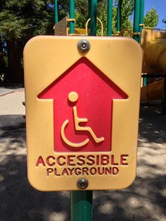 ARE YOUR COMMUNITY'S PUBLIC PLAY AREAS IN ADA COMPLIANCE? Park Playground, Playground Design, Indoor Playground, Kids Play Area, Play Areas, Ada Compliance, Resorts, Graduation Project, Signage Design