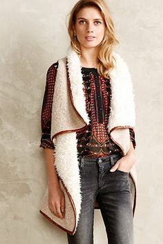 Montana Reversible Vest - anthropologie.com love the texture and it's the perfect length