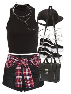 """""""Outfit for summer with shorts and sneakers"""" by ferned on Polyvore featuring Topshop, Bardot, Vans, 3.1 Phillip Lim, Cartier, Forever 21, women's clothing, women, female and woman"""