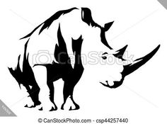 Vector - black and white linear paint draw rhino vector illustration - stock illustration, royalty free illustrations, stock clip art icon, stock clipart icons, logo, line art, EPS picture, pictures, graphic, graphics, drawing, drawings, vector image, artwork, EPS vector art