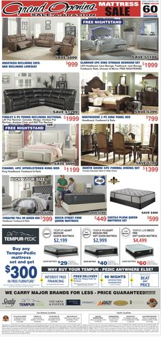 IT'S TIME TO WELCOME OUR NEWEST LOCATION WITH A GRAND SALE-A-BRATION! 🎉  Save HUNDREDS on full bedroom sets, living room sets, FREE mattresses AND MORE!!  Be sure to visit us online at: megafurnituretx.com/ Living Room Sets, Bedroom Sets, Mega Furniture, Reclining Sectional, Dresser With Mirror, Power Recliners, Panel Bed, Mattresses, Bedroom Storage