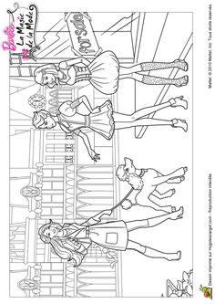 Coloriage barbie et la magie de la mode amies sur Hugolescargot.com - Hugolescargot.com