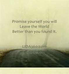 Promise yourself you will do something meaningful. LIDA360.com