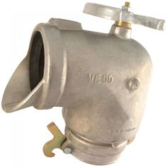 """Curva de aluminio con llave para hidrante, que permite abrir y cerrar la válvula. Disponible en diámetro de 5"""" y de 6"""", con junta y anclajes."""