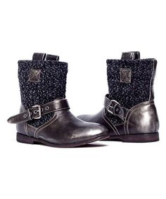 Another great find on #zulily! Distressed Black Mia Boot - Women #zulilyfinds