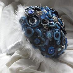 Button Bouquet - blue